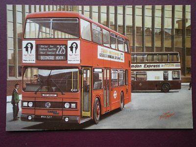 POSTCARD LONDON TRANSPORT LEYLAND TITAN BUS