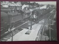 Postcard Sr Battle Of Britain Class Loco No 34073 Passing L Class Loco No 31779 -  - ebay.co.uk