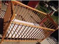 Cosatto Solid Beech Wood Cot With Dropside
