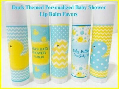 RUBBER DUCK Themed Baby Shower Lip Balm Favors- Set of 25-Free Personalization](Rubber Duck Themed Baby Shower)