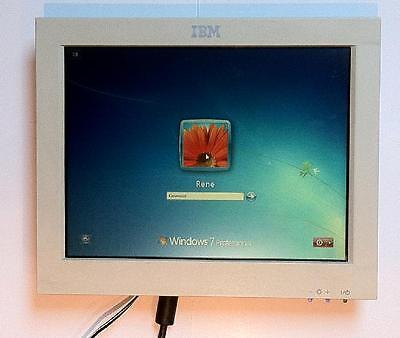 "IBM 12"" POS MONITOR TFT DISPLAY IBM 4820-48T KASSENDISPLAY / Windows7 rdy"