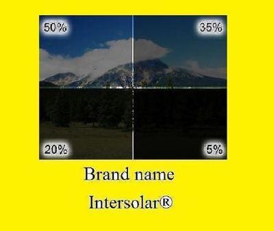 "Intersolar® 2Ply 20""x100FT Window Film Roll Choose the tint  5% 15%,20% 35% 50%"