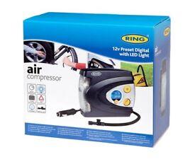 12v Preset Digital Air Compressor with LED Light