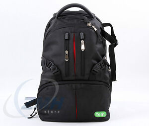 Professional Travel Camera Backpack Nylon Case Bag For DSLR Cano