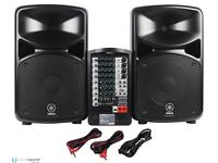 Brilliant acoustic P.A. system. Just over a year old, and only used a few times. Good as new!