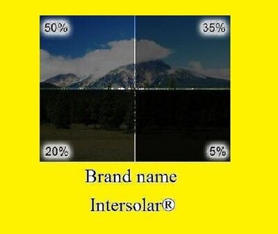 """Window tint Film 2 ply HQ   5% 20% 35% 50% 30"""" Inch x 50 'Feet  Intersolar®"""