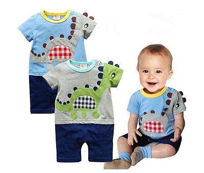 Newborn Baby Boy Kids Dinosaur Romper Bodysuit Cartoon Costume Clothes Playsuit