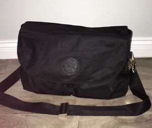 Tory Burch Black Nylon Messenger Diaper Bag