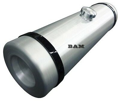 12x40 Center Fill Spun Aluminum Round Fuel Tank - 19.5 Gallon - Off Road - Trike