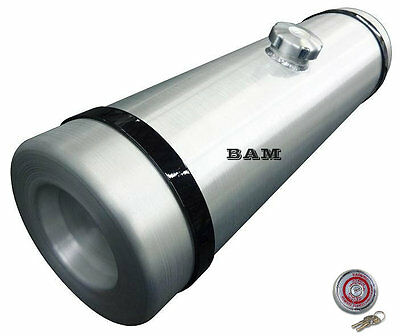 10x33 CENTER FILL SPUN ALUMINUM GAS TANK - 11.25 GALLON - WITH LOCKING GAS CAP