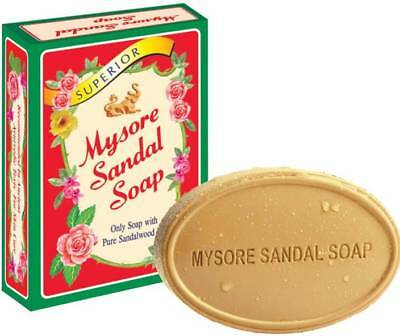 12 X 125gm Natural Mysore Sandalwood Sandal Soap Skin Moisturize Fast ship USA