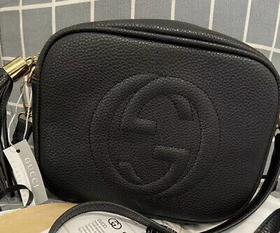 Gucci Soho Disco crossbody bag black.