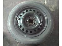 Car wheel with great tyre