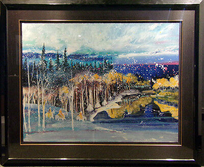 "Earl Biss ""Early Snow On The Beartooth Range"" with Custom frame Make an Offer for sale  Aurora"