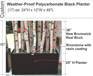 Patio Weather Proof Poly carbonate Black Planters