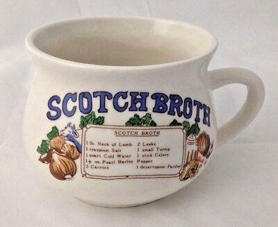 Vintage Scotch Broth Soup Recipe Mug 3 5/8