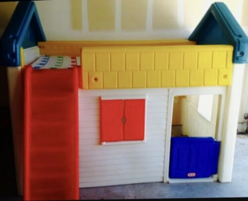 Rare Retired Vintage Little Tikes Twin Loft Playhouse Bed