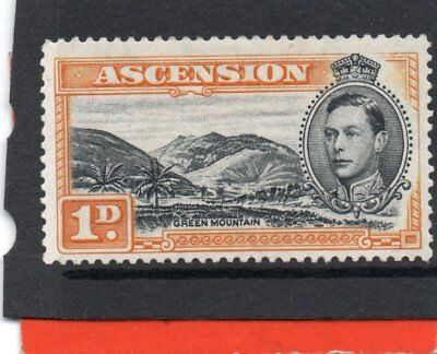 Ascension GV1 1938-53 1d black&yell.orange sg 39a LH.Mint