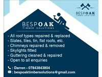Bespoak Timber Solutions - All Roof Types Repaired & Replaced - Call Darren 07843843804