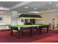Full Size Karnehm & Hillman Snooker Table and Accessories