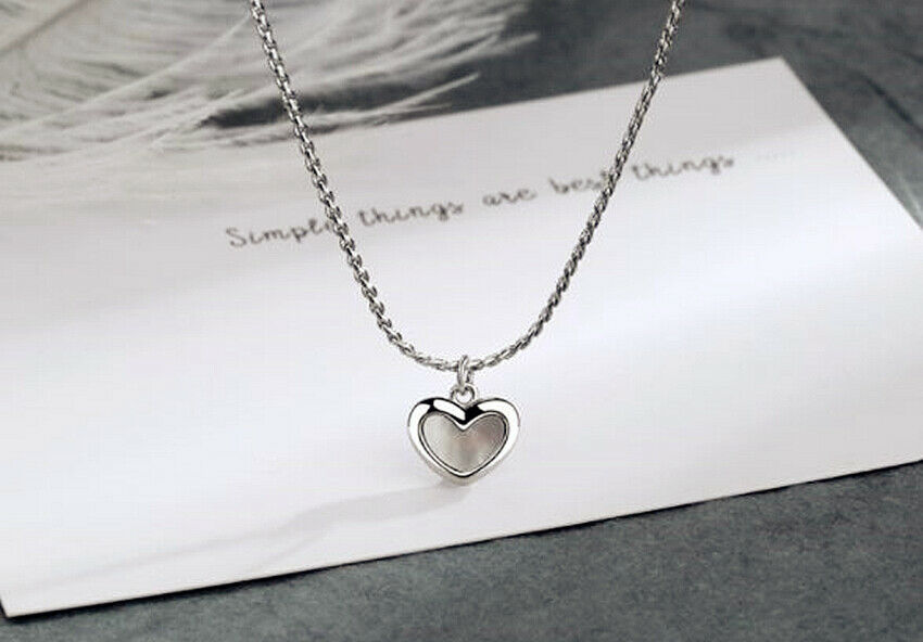 Jewellery - Heart Moonstone Pendant 925 Sterling Silver Chain Necklace Womens Jewellery Gift