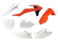 New Plastic Kit Orange/White KTM SX SXF 125 250 350 450 2016 Racetech