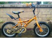 "Boys 14"" Bike stabilisers included dinasour"