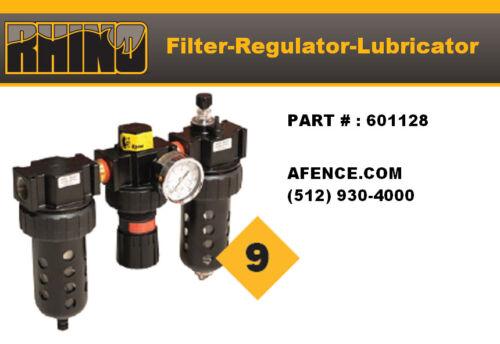 RHINO Filter Regulator Lubricator  601128
