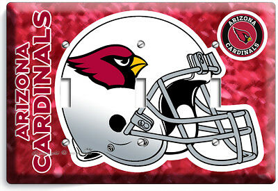 ARIZONA CARDINALS FOOTBALL TEAM 3 GANG LIGHT SWITCH PLATE COVERS ROOM HOME DECOR Cardinals Light Switch Covers