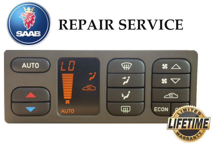 99 00 01 02 03 Saab 93 9-3 Automatic Climate Temp Control Rebuilt Reman New LCD
