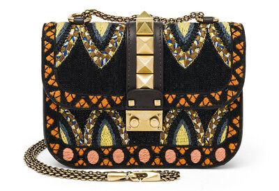 Valentino Garavani Rockstud Small Beaded Leather Shoulder Bag