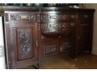 EDWARDIAN STYLE LARGE CABINET. EXCELLENT CONDITION