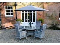 Grey Parasol and Stand