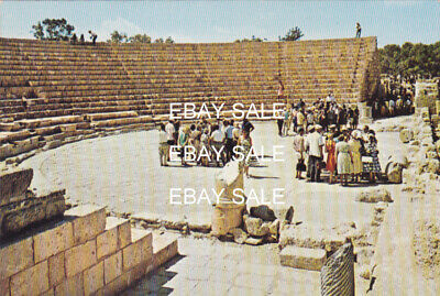 CYPRUS POSTCARD TOURIST GROUP SALAMIS FAMAGUSTA GEORGHIOU EARLY 1960 S