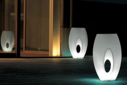 ≥ Bloempot verlicht 21st livingart Kadabra wit sculptuur ...