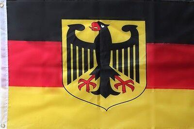 Deutschland Fahne 90x150 Flagge mit Adler - Flagge Fahne