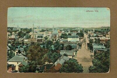 Wisconsin Chick - Jefferson,WI Wisconsin, Panorama Bird's Eye View used 1912 by Bachmann Drug Co