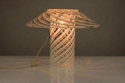 VTG Tisch Lampe Murano Glas Vetreria Artistica Gambaro & Poggi Leuchte Lamp