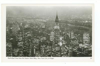 North East Chrysler Bldg View From Empire State Building Real Photo Pc  Nyc