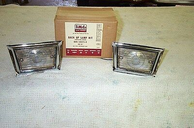 NOS 1958- 58  Ford Backup light kit --Trapezoidal Style