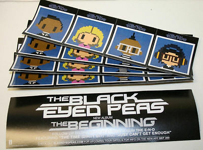 BLACK EYED PEAS THE BEGINNING 10 PACK STICKERS