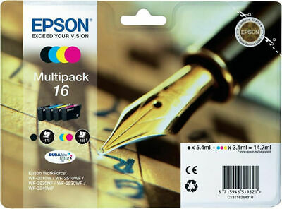 Original Epson 16 Multipack Tinte Patronen WF-2760DWF WF-2750DWF WF-2660DWF