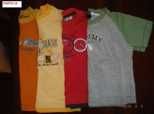 4 t-shirts 12-18 mois de marque