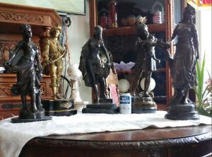Antiquité Objet de Collection Sculpture en Bronze Meuble