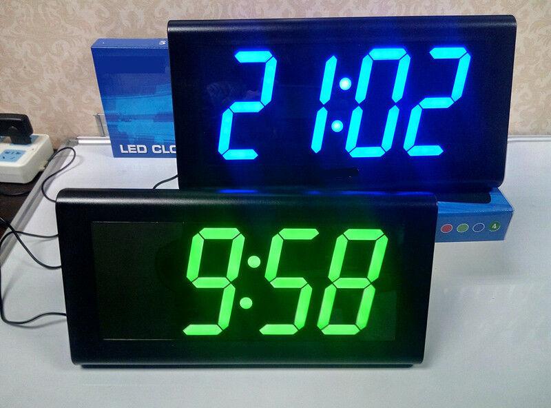 Home Decoration Square 3D Watch Digital Large LED Modern Design Desk Wall Clock