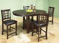 BRAND NEW PUB SET WITH 4 CHAIRS SALE