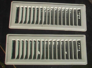 "Duct grills, white, 12 pieces in a box. Size 3""x10"" and white"