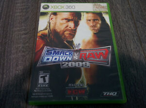 WWE Smackdown vs Raw 2009 Xbox 360 Complete Used Works