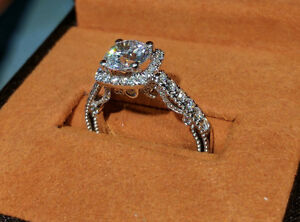 1.22 carat Verragio Engagement Ring and Matching Band