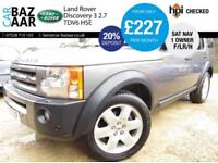 Land Rover Discovery 3 2.7TD V6 auto HSE+F/LR/H+1 OWNER+CAMBELT+PAN ROOF